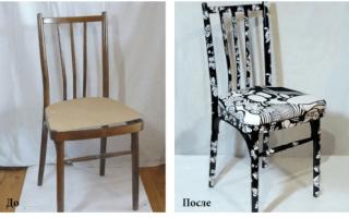 Быстрая реставрация стульев своими руками дома
