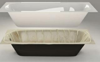 Акриловая вставка (вкладыш) в ванную: описание технологии и установка