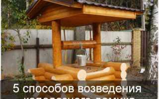 Домик для колодца своими руками — руководство, фото, видео