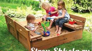 Детская песочница для дачи своими руками — пошаговая технология