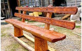 Технология постройки скамейки