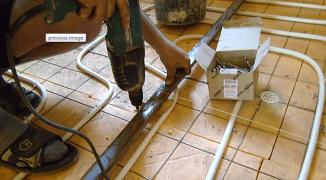 Стяжка пола для теплого водяного пола — пошаговая инструкция + Видео