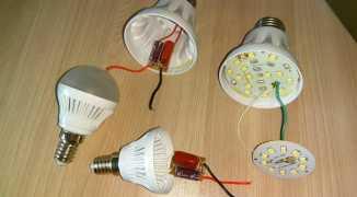Особенности ремонта светодиодных ламп на 220В своими руками