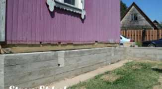 Как укрепить фундамент деревянного дома — технология выполнения работ