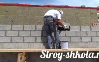 Кладка стен из керамзитобетонных блоков
