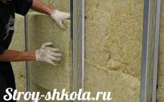 Утепление стен минеральной ватой своими руками