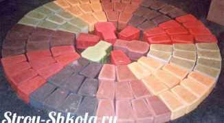 Краситель для бетона, как его сделать и правильно использовать