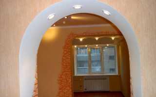 Арка из гипсокартона — пошаговая технология, фото