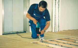 Как выровнять деревянный пол с помощью фанеры своими руками
