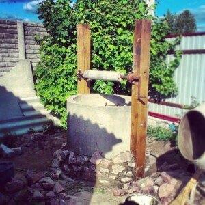 Делаем домик для колодца из бетонных колец шаг 3