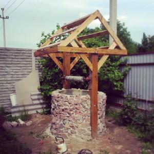 Делаем домик для колодца из бетонных колец шаг 4
