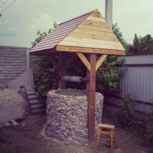 Делаем домик для колодца из бетонных колец шаг 6