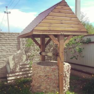 Делаем домик для колодца из бетонных колец шаг 7