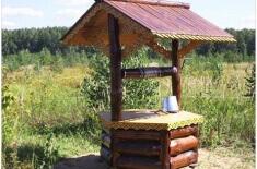 Делаем домик для колодца своими руками