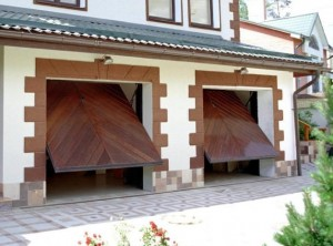 Пример ворот для гаража