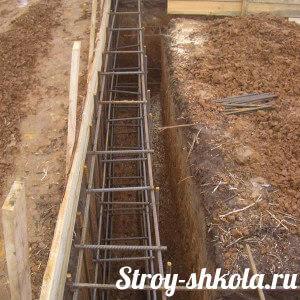 Строительство и армирование фундамента