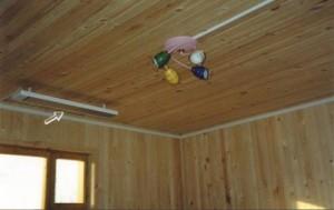 Вариант с электрическим отопление в деревянном доме