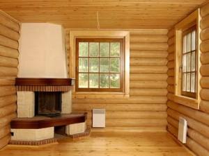 Отопление деревянного дома с помощью печи