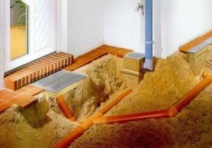 Трубы в некоторых участках необходимо монтировать под наклоном