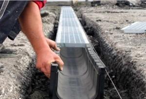 Дождевая канализация открытого типа монтаж