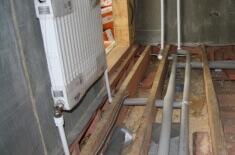 Схема отопления одноэтажного дома