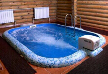 Баня с бассейном