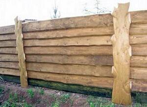Готовый забор из горбыля