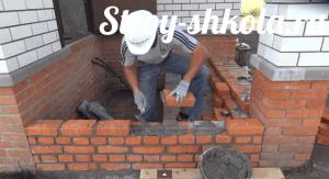 Кладка боковой стены