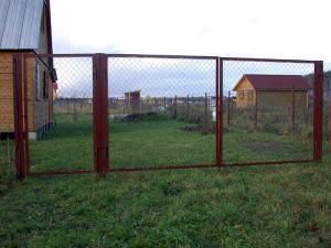 Металлический ворота своими руками