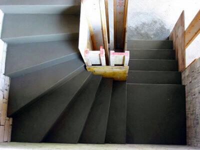 Образец бетонной лестницы