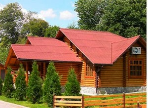 Образец дома покрытого ондулином