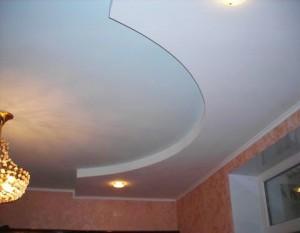 Вот так выглядит уже готовый потолок