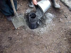 Процесс обустройства скважины