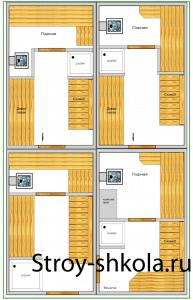 Схема монтажа печи для бани на колесах