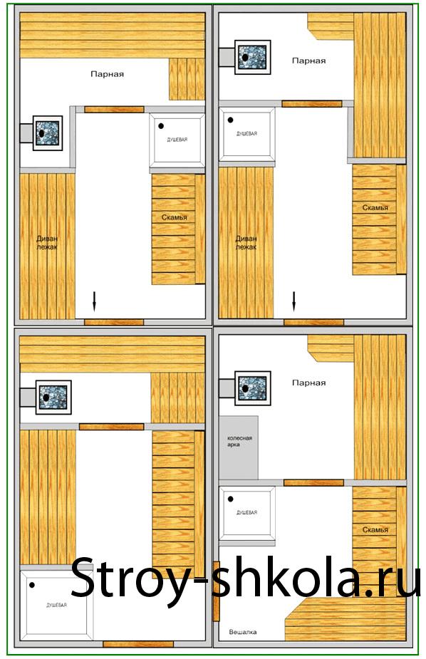 Схема монтажа печи для бани на