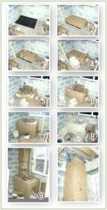 Схема укладки кирпичей для печи с водяным котлом