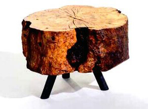 Стол из бревна
