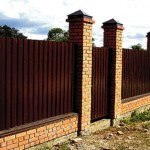 Инструкция — Как построить забор из профлиста