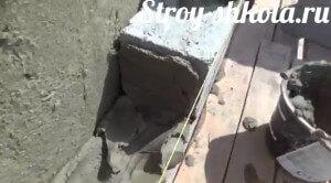 Цемент кладем приблизительно 1 см
