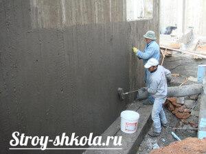 Обмазочная гидроизоляция цементными модифицированными растворами