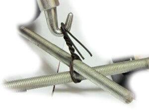 Образец связанной арматуры при помощи крючка