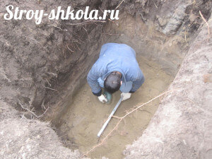 Процесс создания бетонной подушки
