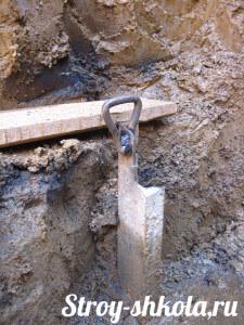 Создание ступенек под бетонную подушку