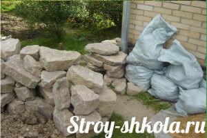 Заготавливаем камни