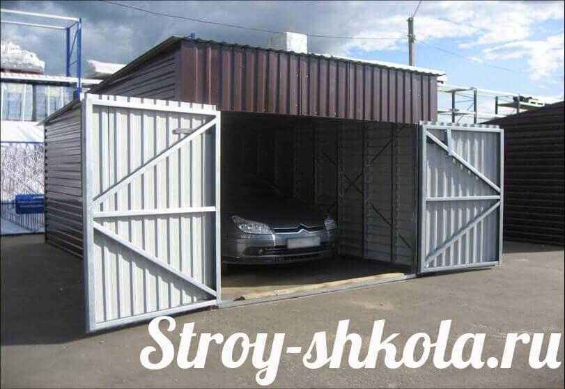 Построить гараж из профнастила своими руками