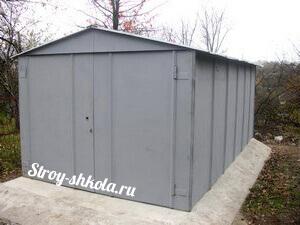 Металлический гараж своими руками