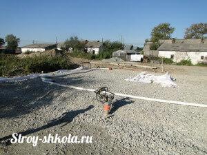 Подготовка площадки под строение