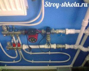 Подключение теплго пола к системе отопления с помощью соединительной фурнитуры