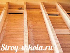 Деревянные перекрытия между этажами в кирпичном доме