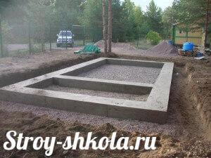 Процесс заливки фундамента бетоном